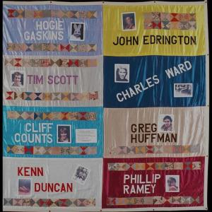 Hogie Gaskins's AIDS Quilt panel